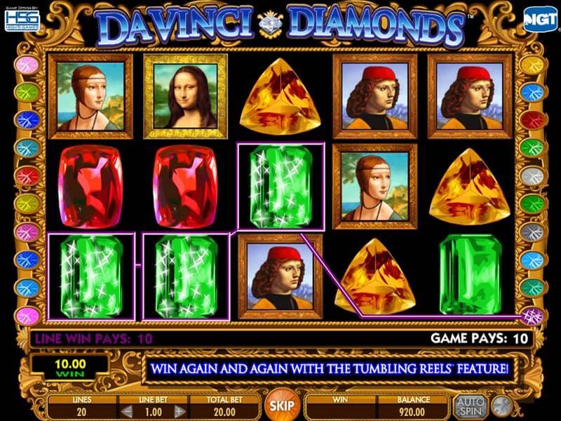 Davinci Diamonds Free Slot Game